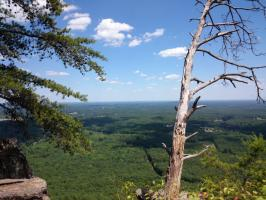 At the top of Crowders Mountain