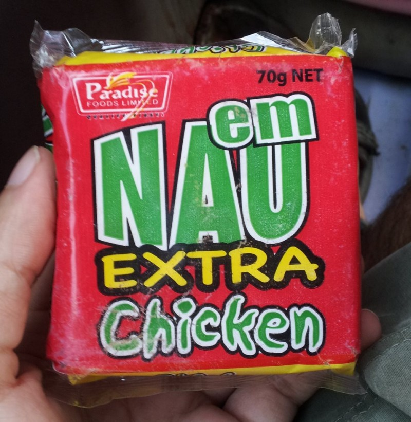Chicken flavored crackers are quite popular. Also available in beef.