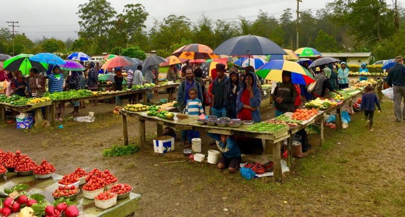 All these and more can be found at the Ukarumpa market, rain or shine!